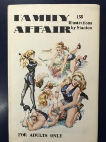 英文原版 Eric Stanton  埃里克斯坦顿 成人插图故事《家庭趣事 family affair》1975年出版 稀少书籍
