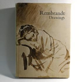 今年是伦勃朗年!<伦勃朗素描画册>精装英文原版1976年overlook press 出版社。原军艺藏书,带一张1960年藏书书签