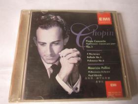 CD 光盘  唱片    EMI   肖邦第一钢琴协奏曲