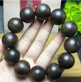 印尼加里曼丹沉香手串天然老料佛珠手链保真沉香木念珠男女款20mm