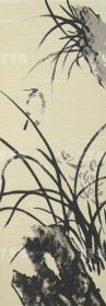 著名画家、大庆市美协会副秘书长 高继叶 2012年亲笔签名 丝网版画《四君子之兰》一幅(版号随机,所售编号为60-100/180,作品得自于艺术家本人!) HXTX110971