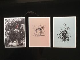 童书明信片 全套三张 多买多赠