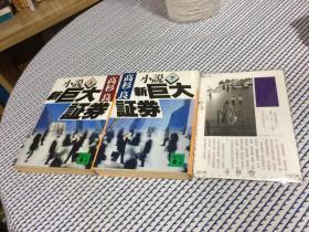 2本合售:  日文原版    小说 新巨大証券 上 下  全二册