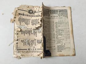 民国旧书 科学画报 二十一年十一月 第八卷 第六期。缺少封面,品差有蛀洞