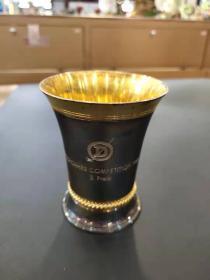 西洋 欧洲古董 银器 瑞士 JEZLER 800银 高尔夫春季赛 奖杯 133克 1988年