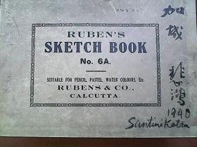 【加城 悲鸿 1940】一路芳喷鼻 徐悲鸿的印度故事 【Rubens sketch book】徐悲鸿的素描本                 S2