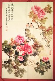 【保真】山西美协会员、知名画家谭凤田花鸟小品画