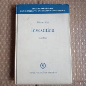 vahlens handbuch der wirtschafts - und sozialwissenschaften investition 原版平装