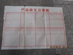 凤阳小岗村收来的空白巨幅《产品收支公布榜》,保老保真,罕见大锅饭的见证,存于b纸箱276