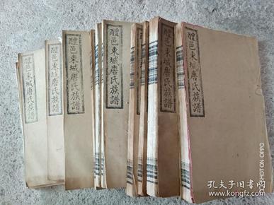 民国25年唐氏谱14册全套
