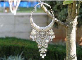 S925纯银项链,少数民族工艺,富有民风情,鬼斧神工,技艺精湛可遇不可求的神品值得收藏和佩戴