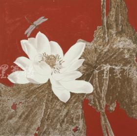 青年版画家 张业平 2011年亲笔签名 丝网版画《秋的旋律》一幅(版号随机,所售编号为30-80/100,作品得自于艺术家本人!) HXTX115820