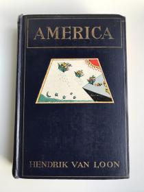 英文原版 America 美国 毛边本 大量彩色和黑白插图