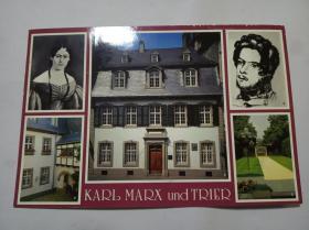 德国 (马克思的故乡特利尔市 )明信片 一张