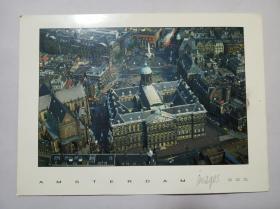 实寄:荷兰 /阿姆斯特丹明信片一张