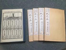 《桃花扇》民国11年,上海扫叶山房石印本,线装本,白纸,一函4册全,书前有精美插图多幅,略有黄斑,有一页有破损已拍图,其它品相非常好,开本尺寸20/13/1.5公分