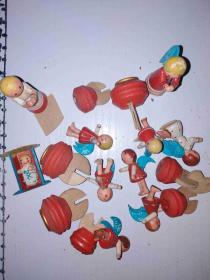 早期玩具实木小人