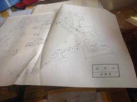 日本有名庭园实测图纸43-45号 退藏院,龙安寺 + 鹿苑寺 共三张图纸