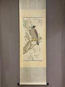 刘奎龄〈雄视〉画轴 临摹作品