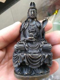 刚收的,日伪时期小铜像。高9㎝