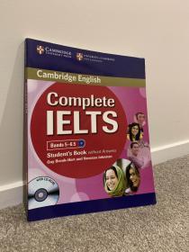 剑桥雅思完全备考学生书5-6.5分 B2 带CD 英文原版 CompleteIELTS Bands 5-6.5 Students Book without Answers