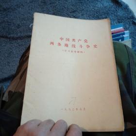 中国共产党两条路线斗争史16开1972年有毛主席语录