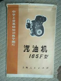 中学工业基础知识教学挂图片汽油机165F型。