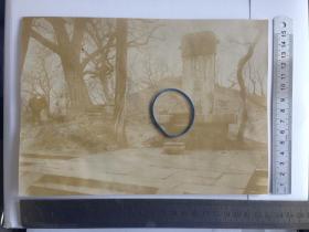 清末老照片 山东曲阜孔子坟 1900年