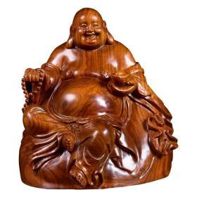 中国仙游花梨木精品/大肚弥勒笑佛/客厅招财摆件