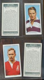 早期外国烟卡-橄榄球明星2枚