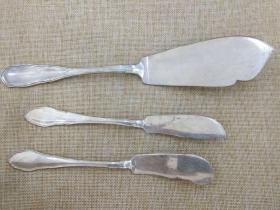 西洋 欧洲古董 德国 餐具 800银 刀 3把 可以分开出售 238克