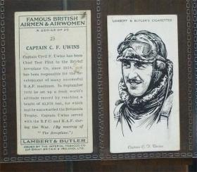 早期外国烟卡-英国飞行员1枚