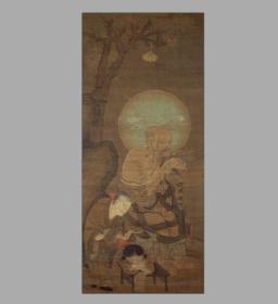 十六罗汉图.存十幅.南宋时代.金大受绘 复印件