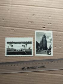 老照片,,广州:爱群大厦+划船  2张合售 (尺寸图为准)