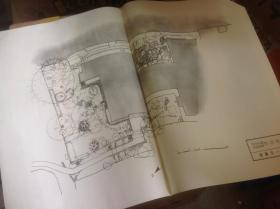 日本有名庭园实测图纸 英彦山庭园群  共七张图纸