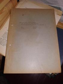著名动物学家寿振黄1939年著 英文版 数种食用鱼类之年龄与生长 单行本 静生生物调查所汇报抽印本