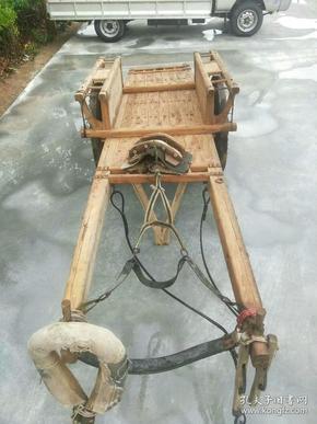 民俗摆件,榆木马车,原车原套正常使用