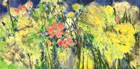 南艺教授 莫雄老师  收藏 花卉 彩鸟 精品装饰收藏书画 国画 名家真迹