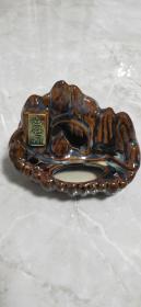 瓷善卷洞窑变釉烟灰缸