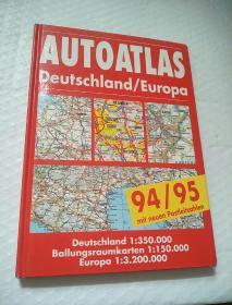AUTOATLAS DEUTSCHLAND EUROPA 94/95