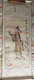 【著名书画家、文学家、社会活动家 ,《一只绣花鞋》作者张宝瑞 国画作品《杜甫造像》一幅】(纸本立轴,画芯约4.2平尺,钤印:张宝瑞印)——张宝瑞作品之二