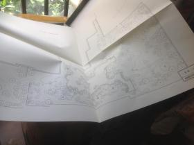 日本有名庭园实测图纸 二条城二の丸庭园  一张图纸