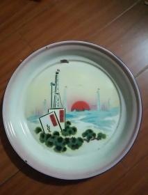 大众牌文革时期搪瓷盘