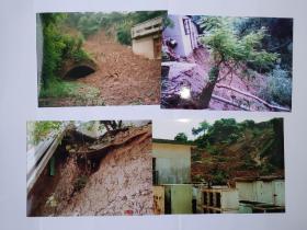 地质滑坡及施工清理摄影照片9张(17.5乘12.7厘米)