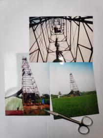 地质钻探摄影照片3张(17.5乘12.7厘米)