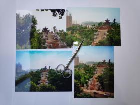 镇江狮子山摄影照片4张(17.5乘12.7厘米)