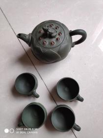 蒋蓉紫砂壶  紫砂茶具一套