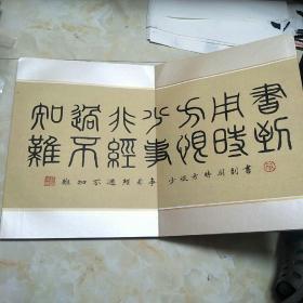 湘人安顺墨痕册页一本大8K外加一张书法  手写