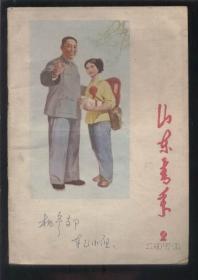 """山东青年(1978年第2期) 【封面为年画""""走毛主席指引的金光大道""""】"""