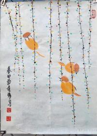 李连修,春曲图。46*35